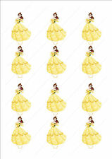 Novelty Disney Princess Belle Edible Cake Cupcake Toppers Decorations Birthday