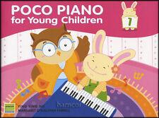 Piano poco para los niños libro 1 con Pegatinas Aprender A Jugar Niños método
