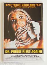 Dr. Phibes Rises Again FRIDGE MAGNET movie poster vincent price