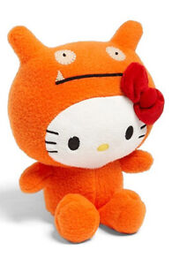 "GUND Hello Kitty X Ugly Doll 7"" Orange WAGE Limited Edition Super Soft Plush NWT"