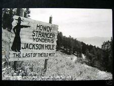 TETON PASS, WY~JACKSON HOLE SIGNBOARD~SANBORN RPPC