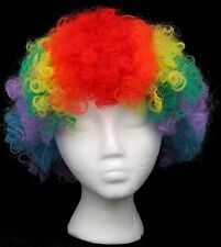 Clown Wig Toy Neon Rainbow Color Bozo Hair Halloween Circus Wigs Costume New