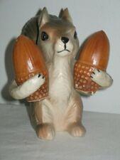 Squirrel with His Acorns Pepper & Salt Shakers Ceramic Circa 1960's Made Japan