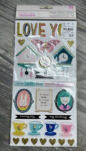American Crafts Crate Paper WILLOW LANE 6x12 Sticker Maggie Holmes NEW paper