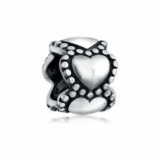 Bling Jewelry 925 Sterling Beaded Heart Wrap Around Bead