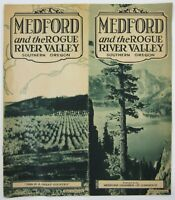 Vintage Medford OR Rogue River Valley Travel Brochure Illustrated History 1930s