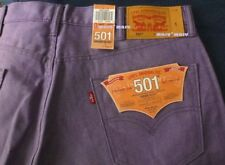 $70 LEVIS Classic 501 SHRINK TO FIT 36x31 RAW DENIM Lily Purple RIGID button fly