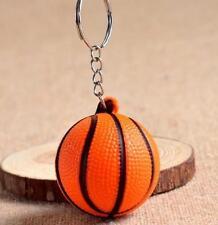 Creative Basketball Pendant Designed Keyring Keychain PU Foam Key Chain Gift A