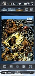 Topps Star Wars Digital Card Trader Galaxy Selects C-3PO & Chewie Insert