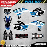Custom Graphics Full Kit to Fit Yamaha YZF 250 2010 - 2013 OUTLAW STYLE stickers