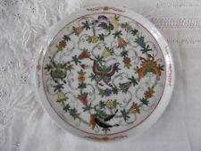 PLAT ROND en Porcelaine de la CHINE motif PAPILLONS D.25cm / Asie Plate