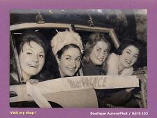 PHOTO DE PRESSE 1959 : LES 4 CANDIDATES À L'ÉLECTION MISS FRANCE À AIX  -S103