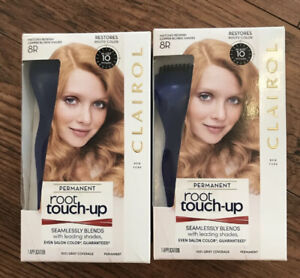 2 Clairol Root Touch Up In 10 Minutes 8R Reddish Copper Blonde Hair Color