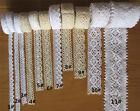 Vintage Cotton Crochet Lace Edge Trim Ribbon Embroidered Applique Sewing Craft