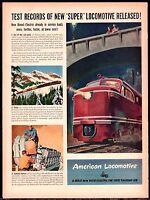 1946 AMERICAN LOCOMOTIVE Railroad AD~Big Red Train Engine