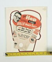Vintage Hep Insecticide Ad Featuring Dave Garroway, Display, Oddity