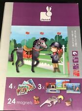 Horses and Riders Interactive Playset Janod Magneti