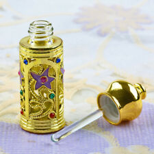 3ml Antiqued Glass Vintage Empty Dropper Essential Oil Perfume Bottle Lady Gift