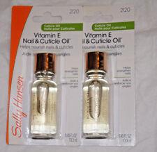 2 pieces NIP Sally Hansen Vitamin E Nail & Cuticle Oil full size