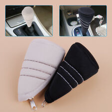 Car Antislip Gear Shift Knob Level Shifter Head Zipper Cover Protective Sleeve