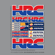 Honda HRC Stickers Repsol Motorcycle Decals Set A4 Sheet - Fireblade CBR - 2452