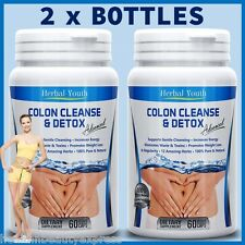 120 DETOX COLON CLEANSE CAPSULES 2000mg DAILY WEIGHT LOSS DIET SLIMMING PILLS