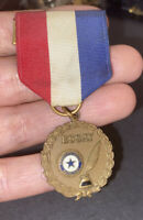 Vintage American Legion Auxiliary Essay Medal Red White Blue Ribbon
