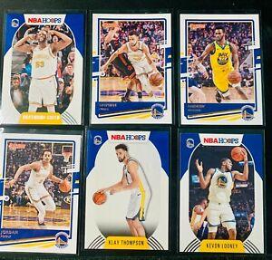 2020-21 Panini NBA Hoops & Donruss Golden State Warriors Lot of 6