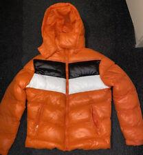 Womens Orange Puffer Coat Size 6-8