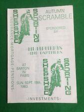 Scramble / Moto cross racing programme Shepshed 18th September 1983