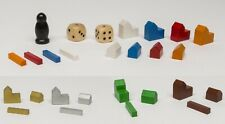 SET FOR CATAN settlers 4-5-6-7-8 players meeple dice city houses roads or spares