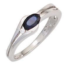 Echte Edelstein-Ringe aus Weißgold mit Diamant für Damen