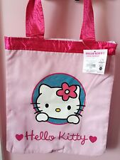 217068edf0d Women Girl Kid Child Hello Kitty Cotton Pink Shopper Carry Library Lunch Bag
