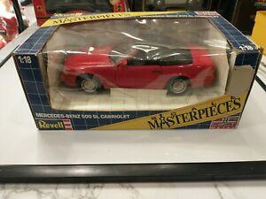 Revell Red Mercedes Benz 500SL Cabriolet Diecast 1:18 Car #8671