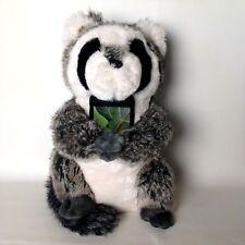 "RACCOON PB TEEN Faux Fur Rockin Plush Speaker Animal  13.5"" Tall Pottery Barn"