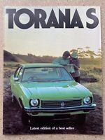 1976 Holden Torana S original Australian sales brochure