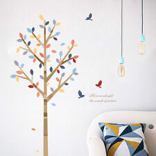 Colourfull Tree Birds Wall Sticker Home Decor Removable Living Room DIY