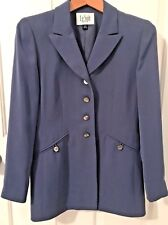 LE SUIT Womens Periwinkle Dress Jacket-Size 6 Petite-Lined-4 Buttons in front-EU