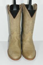 VINTAGE ACME WOMENS 8 M TAN ROUND TOE CLASSIC WESTERN COWBOY BOOTS
