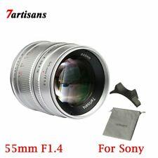 7artisans 55mm F1.4 APS-C Large auputre Fix Focus Length E Mount Lens For Sony