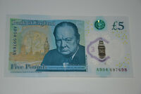 NEW £5 Five POUNDS Note SERIAL Number - AK....AA...AB ..AC.. Polymer Plastic