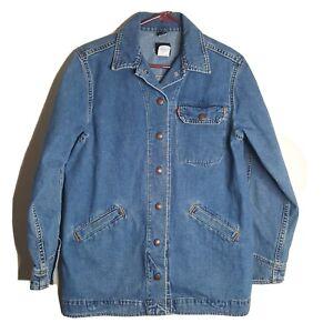 Levi's Womens Jean Jacket Barn Coat Rancher Snap Up Size Small Pockets Cotton