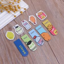 2Pcs Metal Magnetic Cartoon Bookmarks Note Memo Stationery Book Mark Bookworm