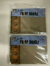 "Lot of 2 Tim Holtz Ruler Bookz Junkitz Scrapbook 6"" x 8"" Mini Book Chipboard"