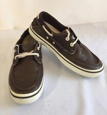 Men's Croc leather boat shoes