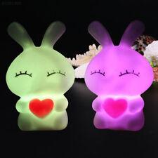 F5CD 7 Changing Color LED Bead Rabbit Shaped Night Light Decoration Lamp kid