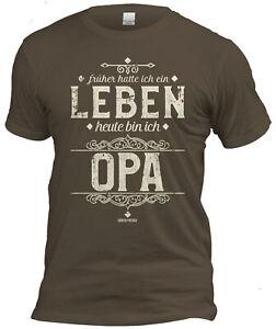 Fun T-Shirt + Urkunde Geschenk Set Opa Vatertag Geburtstag Weihnachten braun