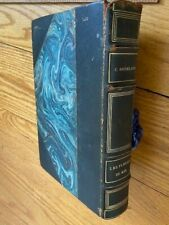 Fine Marbled Leather binding Baudelaire Les Fleurs Du Mal 1922 Conard French