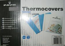 PAVO A4 15mm Thermal Binding Covers 130-150 pages - Clear White Loose pack of 10