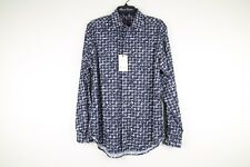 "NWT Robert Graham ""Water Taxis"" Classic Fit Shirt SMALL Blue Check Floral Print"